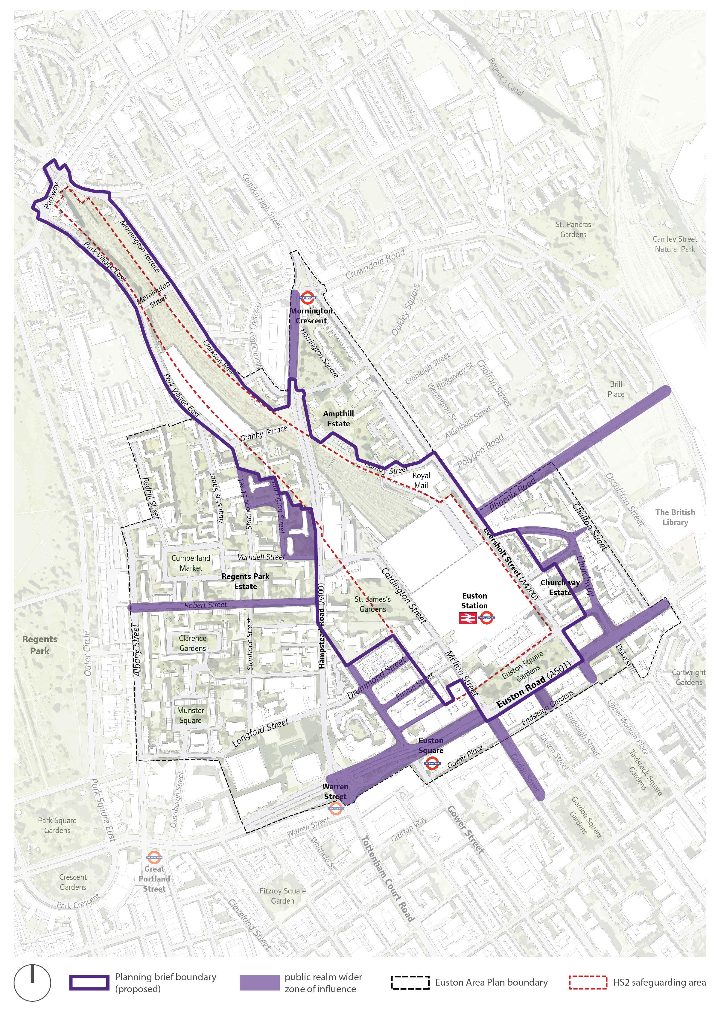 Euston Station Map Euston Area Plan | Planning in Euston